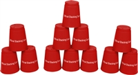 Quick Stack Cups Speed Training Sports Stacking Cups Set of 12 By Trademark Innovations (Red)