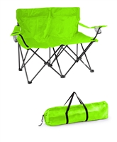 "Loveseat Style Double Camp Chair with Steel Frame by Trademark Innovations (Light Green, 31.5""H)"