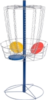 Metal Disc Frisbee Golf Goal Set Comes with 6 Discs By Trademark Innovations