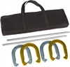 Trademark Innovations Pro Horseshoe Set Gold Silver Powder Coated Steel