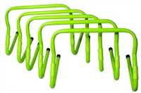 Trademark Innovations Set of 5 Adjustable Speed Training Hurdles (Light Green)