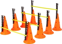 Adjustable Hurdle Cone Set  8 Cones 4 Poles by Trademark Innovations