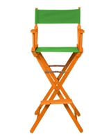 Director's Chair Bar Height Wood Fabric Color Choices By Trademark Innovations (Honey Wood with Green)
