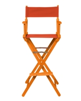 Director's Chair Bar Height Wood Fabric Color Choices By Trademark Innovations (Honey Wood with Orange)