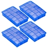 15 Cube Ice Cube Tray Makes Perfect Cubes in Freezer (4 Trays)
