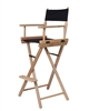 Director's Chair Counter Height Light Wood By Trademark Innovations (Black)