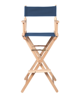 Director's Chair Counter Height Light Wood By Trademark Innovations (Blue)