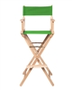 Director's Chair Counter Height Light Wood By Trademark Innovations (Green)