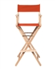 Director's Chair Counter Height Light Wood By Trademark Innovations (Orange)
