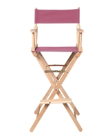 Director's Chair Counter Height Light Wood By Trademark Innovations (Pink)