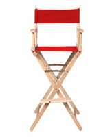 Director's Chair Counter Height Light Wood By Trademark Innovations (Red)