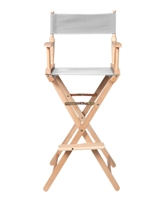 Director's Chair Counter Height Light Wood By Trademark Innovations (White)