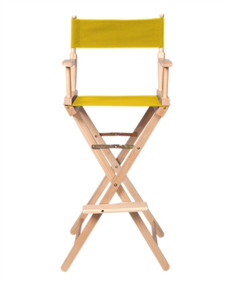 Director's Chair Counter Height Light Wood By Trademark Innovations (Yellow)