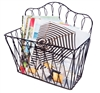 Decorative Wall Mounted Metal Magazine Storage Rack by Trademark Innovations
