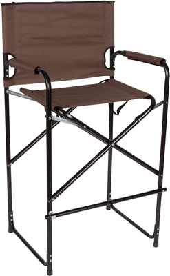Lightweight Durable Aluminum Folding Tall Director's Chair by Trademark Innovations