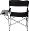 Folding Director's Chair with Aluminum Side Table, Storage Bag Steel Tubing by Trademark Innovations