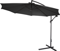 10' Deluxe Polyester Black Offset Patio Umbrella