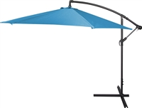 10' Deluxe Polyester Teal Offset Patio Umbrella by Trademark Innovations
