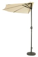 9' Patio Half Umbrella by Trademark Innovations (Beige)
