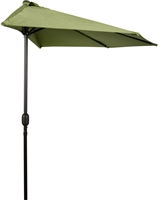 9' Patio Half Umbrella by Trademark Innovations (Light Green)