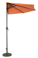 9' Patio Half Umbrella by Trademark Innovations (Orange)