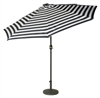 9' Deluxe Solar Powered LED Lighted Patio Umbrella by Trademark Innovations (Blue Striped)