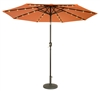 9' Deluxe Solar Powered LED Lighted Patio Umbrella by Trademark Innovations (Orange)