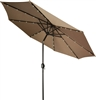 9' Deluxe Solar Powered LED Lighted Patio Umbrella by Trademark Innovations (Tan)
