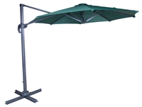 10' Deluxe Green Polyester Offset Roma Patio Umbrella by Trademark Innovations