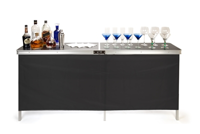 "Trademark Innovations Portable Bar Table Two Skirts Carrying Case Included (78""L x 15""W x 36""H)"