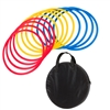 "Trademark Innovations Speed Agility Training Rings Set of 12 18"" Diameter Multicolor (With Carrycase)"
