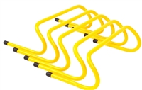 Trademark Innovations Speed Training Hurdles Pack of 5 (Yellow, 6 Inch)