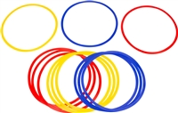 "Trademark Innovations Speed Agility Training Rings Set of 12 18"" Diameter Multicolor"