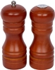 Peppermill Salt Shaker Set 5 Inches High With a Walnut Finish by Trademark Innovations