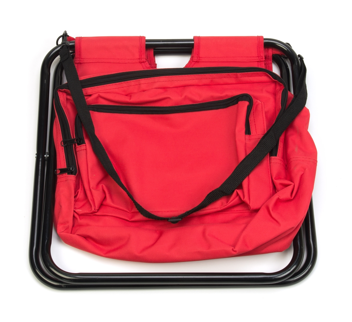 Portable Folding Camp Stool with Storage Pouch by  : STOOL FLDNG RED 3 from www.trademarkinnovations.com size 1200 x 1098 jpeg 651kB