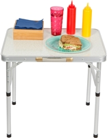 Aluminum Adjustable Portable Folding Camp Table With Carry Handle By Trademark Innovations