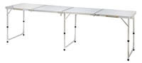 Portable Adjustable Lightweight Quad Size Aluminum Folding Table by Trademark Innovations