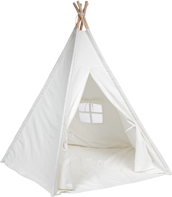 Trademark Innovations Authentic Giant White Canvas Teepee 6'