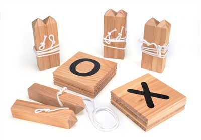 Giant Wooden Tic Tac Toe Backyard Game by Trademark Innovations