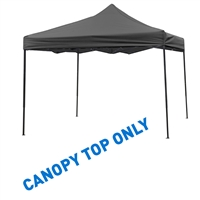 10' x 10' Square Replacement Canopy Gazebo Top Assorted Colors By Trademark Innovations (Black)