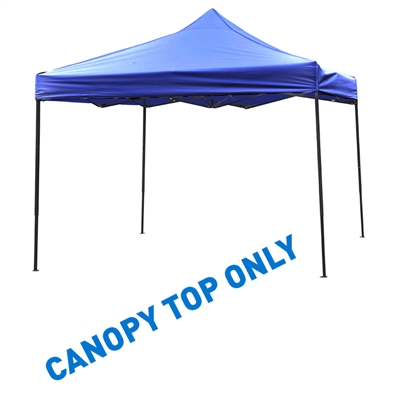 10' x 10' Square Replacement Canopy Gazebo Top Assorted Colors By Trademark Innovations (Blue)