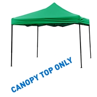 10' x 10' Square Replacement Canopy Gazebo Top Assorted Colors By Trademark Innovations (Green)