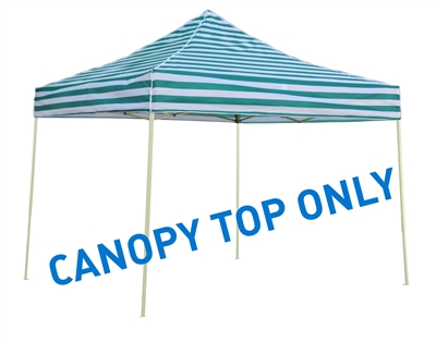 10' x 10' Square Replacement Canopy Gazebo Top Assorted Colors By Trademark Innovations (Green Stripe)