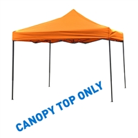 10' x 10' Square Replacement Canopy Gazebo Top Assorted Colors By Trademark Innovations (Orange)