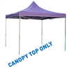10' x 10' Square Replacement Canopy Gazebo Top Assorted Colors By Trademark Innovations (Purple)