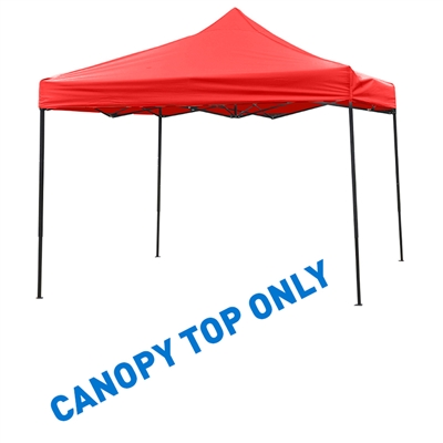 10' x 10' Square Replacement Canopy Gazebo Top Assorted Colors By Trademark Innovations(Red)