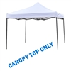 10' x 10' Square Replacement Canopy Gazebo Top Assorted Colors ByTrademark Innovations (White)