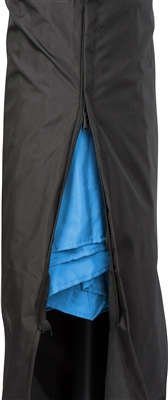10' Deluxe Polyester Offset Patio Umbrella with Umbrella Cover by Trademark Innovations (Teal)