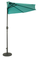 9' Patio Half Umbrella by Trademark Innovations (Teal)