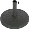 "Decorative Resin Umbrella Base 17.5"" Diameter By Trademark Innovations"